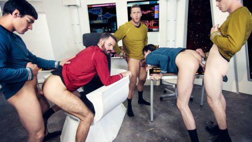 Star Trek - A Gay XXX Parody part 1 - Brendan Patrick, Donny Forza, Jack Hunter, Jordan Boss &Rod Pederson