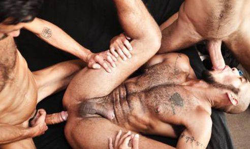 Louis Ricaute bareback 3some – Louis Ricaute, Rodolfo, Fostter Riviera
