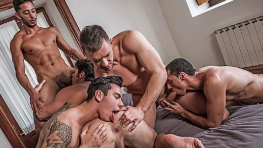 Fivesome DP - Angel Cruz, Devin Franco, Drae Axtell, Andrey Vic & Javi Velaro