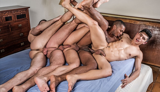 Man Double Penetration Orgy – Dani Robles, Ken Summers, Logan Rogue, Ralph Novak & Sean Xavier