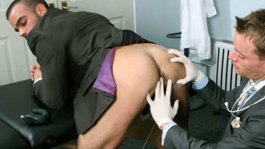 Dr Stevens examines Damien Crosse