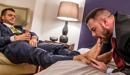 Brian Bonds Embraces Sergeant Miles Foot Fetish