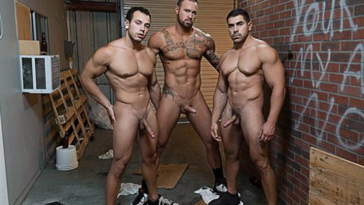 Whore Alley Part 4 – Damien Stone, Leon Lewis & Michael Roman