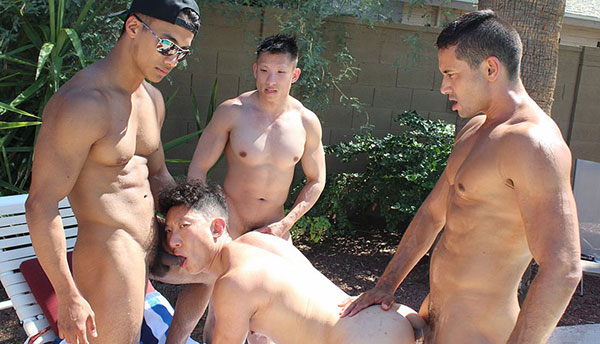 Mr. Hardball – Naked in the Pool – Gabe, Ken, Jessie & Cody