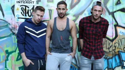 Loaded after the gym – Philippe, Flo & Guillaume