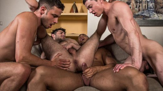 Raw Double Penetrations 07 - Jam Packed – Raw Double Fucking – Ben Batemen, Brock Magnus, Ruslan Angelo & Damon Heart
