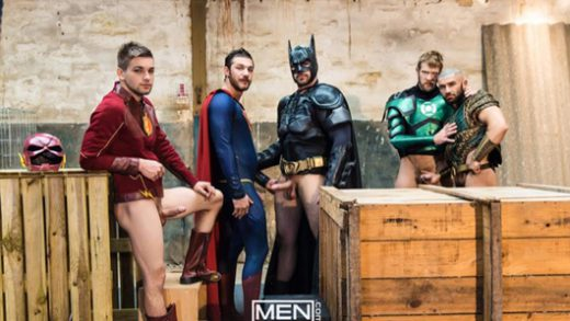 Justice League - A Gay XXX Parody 4 – Brandon Cody, Johnny Rapid, Colby Keller, Ryan Bones & François Sagat