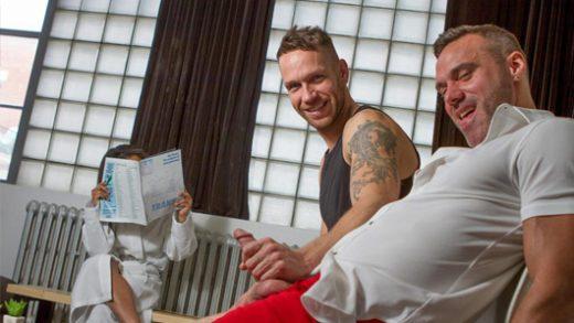 Dudes In Public 17 - Risky Massage - Manuel Skye & Kit Cohen