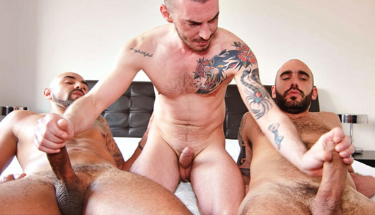 Geo Dovek's raw 3 some – Adam Sahar, Francisco Sants & Geo Dovek