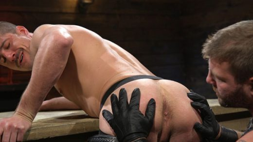 Sean Maygers gets bound and fucked by huge Stud Colby Jansen